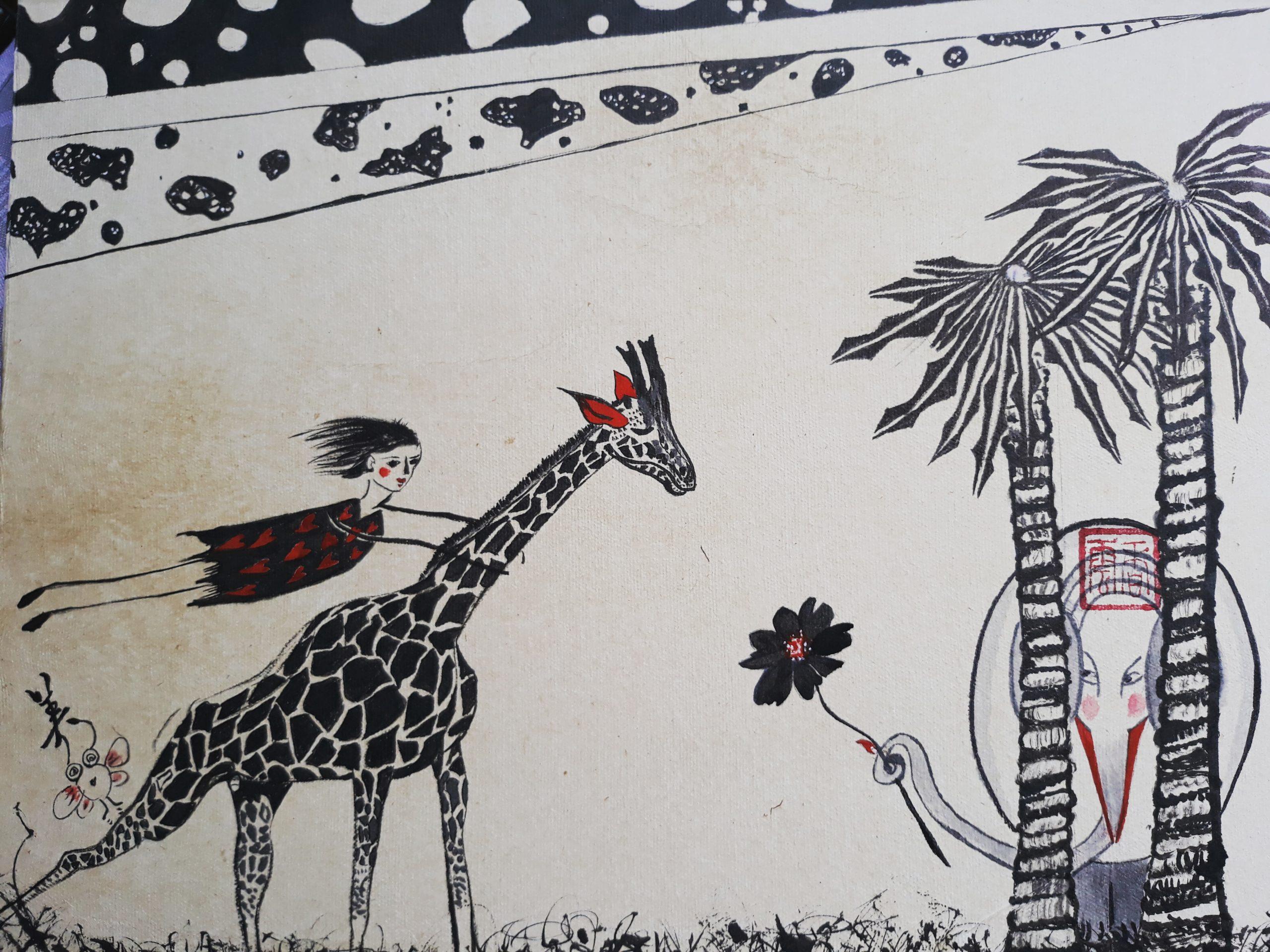 VENDU un éléphant est amoureux d'une Girafe!